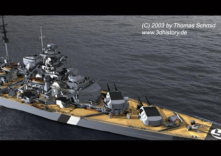Les grands cuirassés de la WWII - Page 2 Bismarck_turret_rot_port-2
