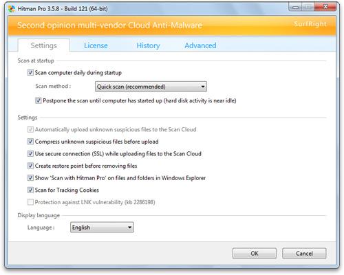 """HitmanPro 3.6.2.168: антивирусное сканирование в """"облаке"""" Hmp-settings"""