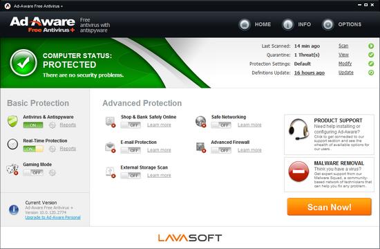 Lavasoft Ad-Aware Free Edition 10: защита от шпионов Full5