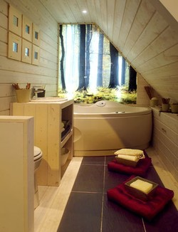 Photos:aménagement de combles Salle-de-bain-sous-pente