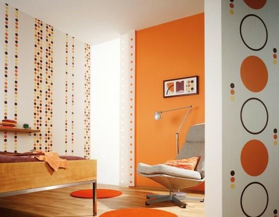 ديكورات باللون البرتقالي 01358516634