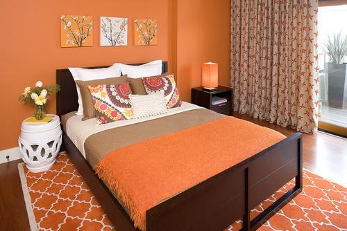 ديكورات باللون البرتقالي 91358516554