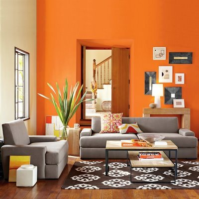 ديكورات باللون البرتقالي 91358516634