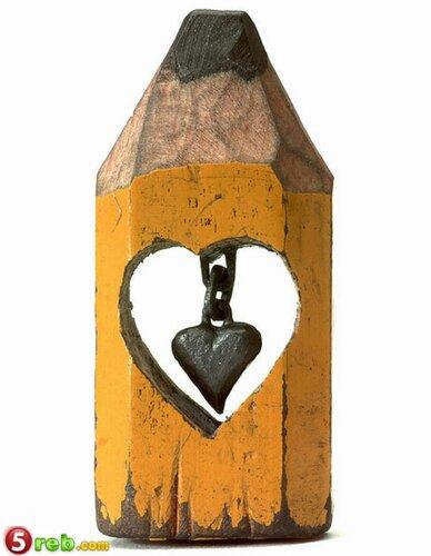اعمال على رؤوس اقلام الرصاص Pencilleadsculptures-15