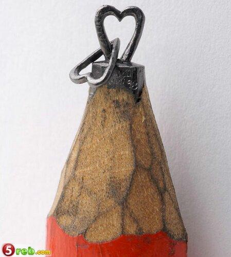 اعمال على رؤوس اقلام الرصاص Pencilleadsculptures-16