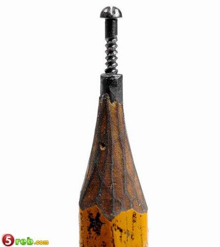 اعمال على رؤوس اقلام الرصاص Pencilleadsculptures-6