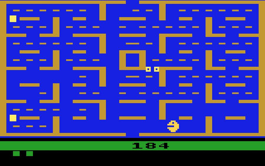 قصة قديمة قد لا تعرفها عن العاب الفيديو PacMan2600Screen