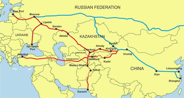 Geopolitica Trans-eurasia-routes-map__2012