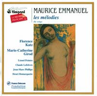 Maurice Emmanuel (1862-1938) Me_melodies