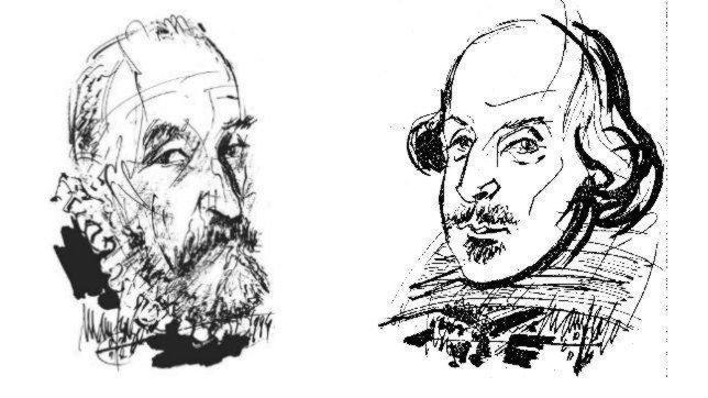 Cervantes y la leyenda de Don Quijote Cervantes-shakesperare-644--644x362