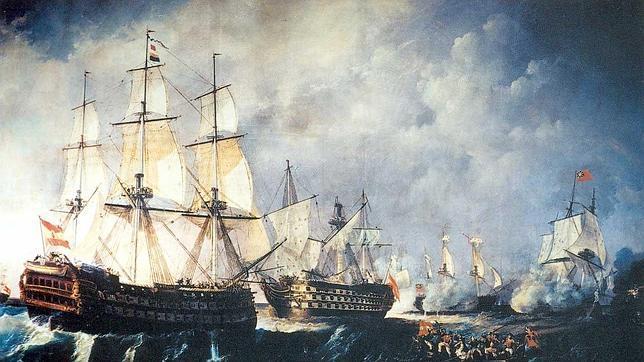 El navio de tres puentes en la Armada Santisima-trinidad-cabo-sanvicente--644x362