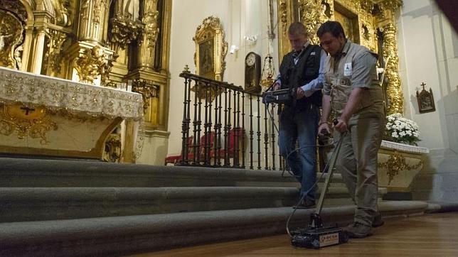 Histórico hallazgo: aquí yace Cervantes  Georradar-trinitarias-cervantes-madrid--644x362