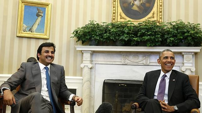 Emirato de Qatar. Intervenciones internacionales. Propietario del 9,52 % del capital de Iberdrola. Obama-qatar--644x362