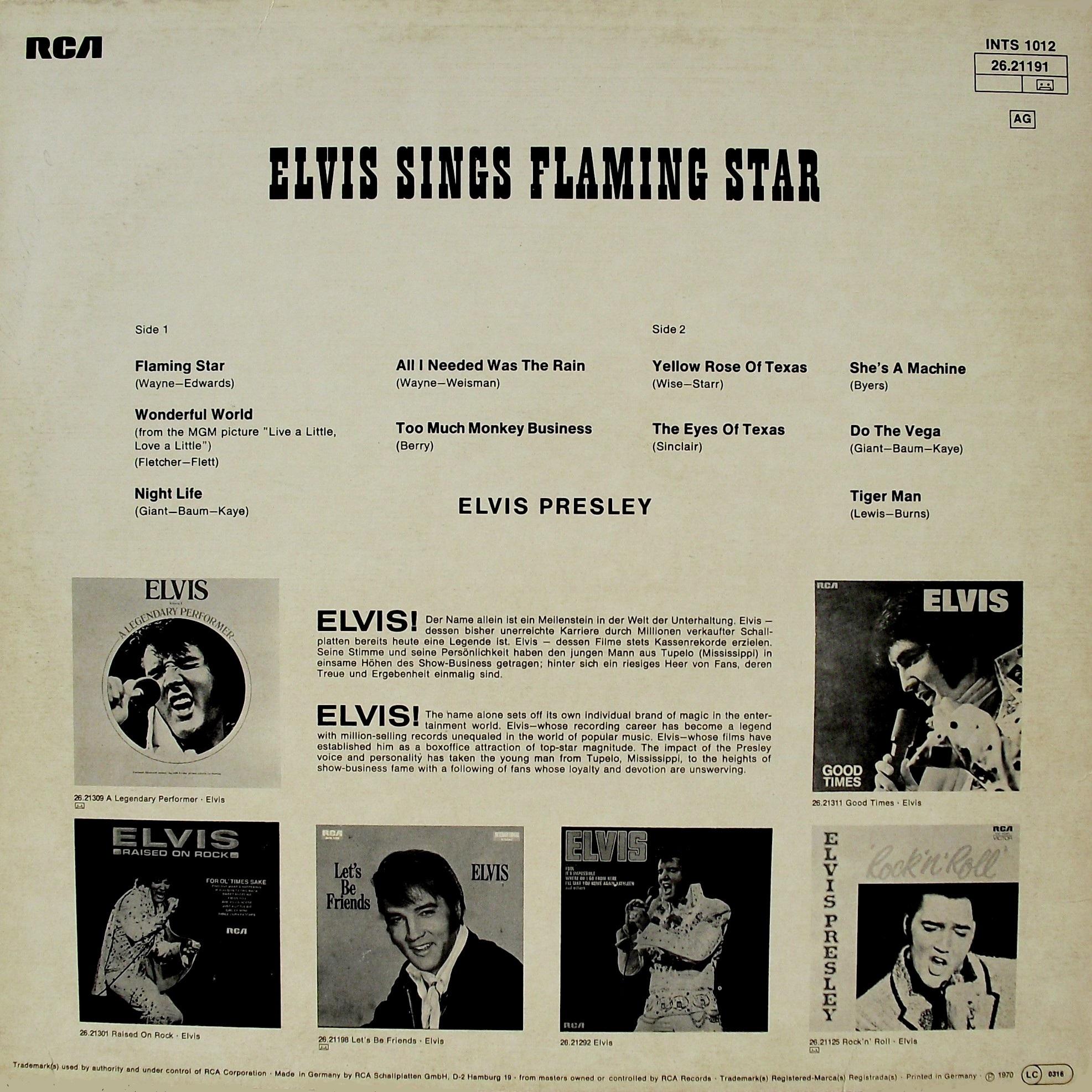 ELVIS SINGS FLAMING STAR 012wru3q