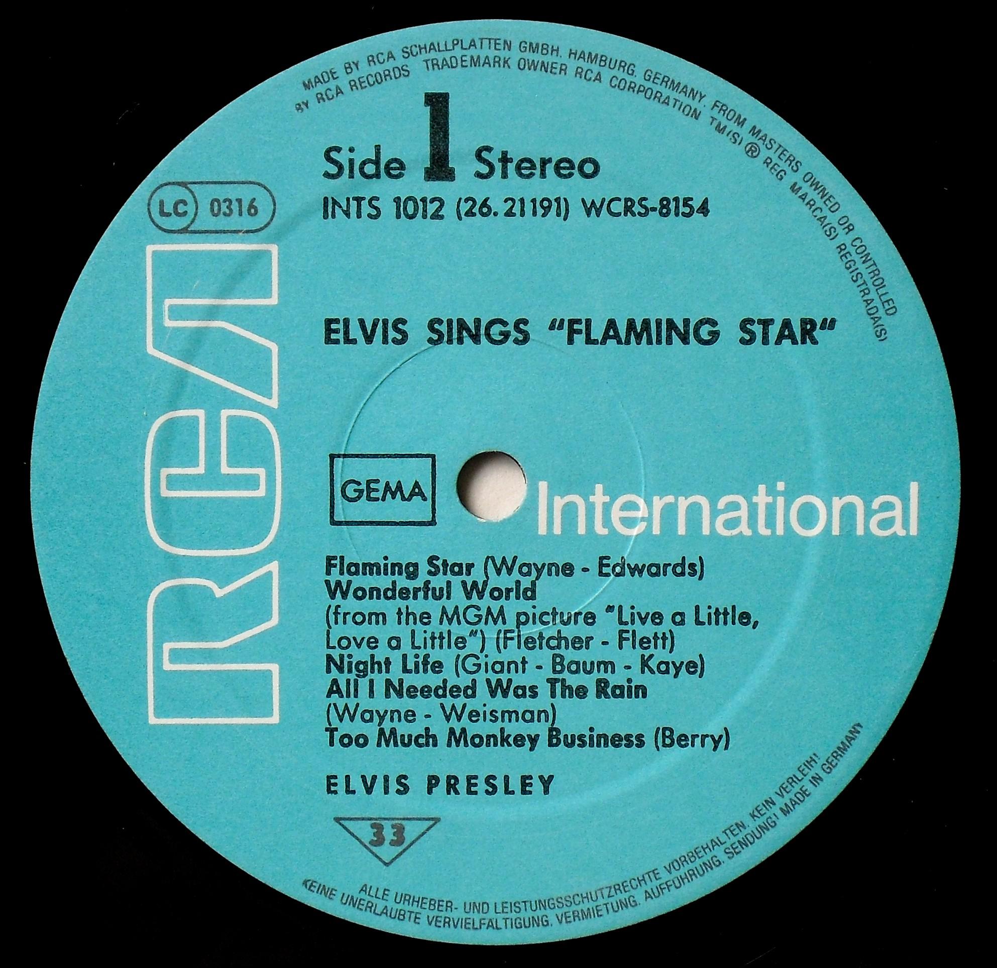 ELVIS SINGS FLAMING STAR 013g9upr