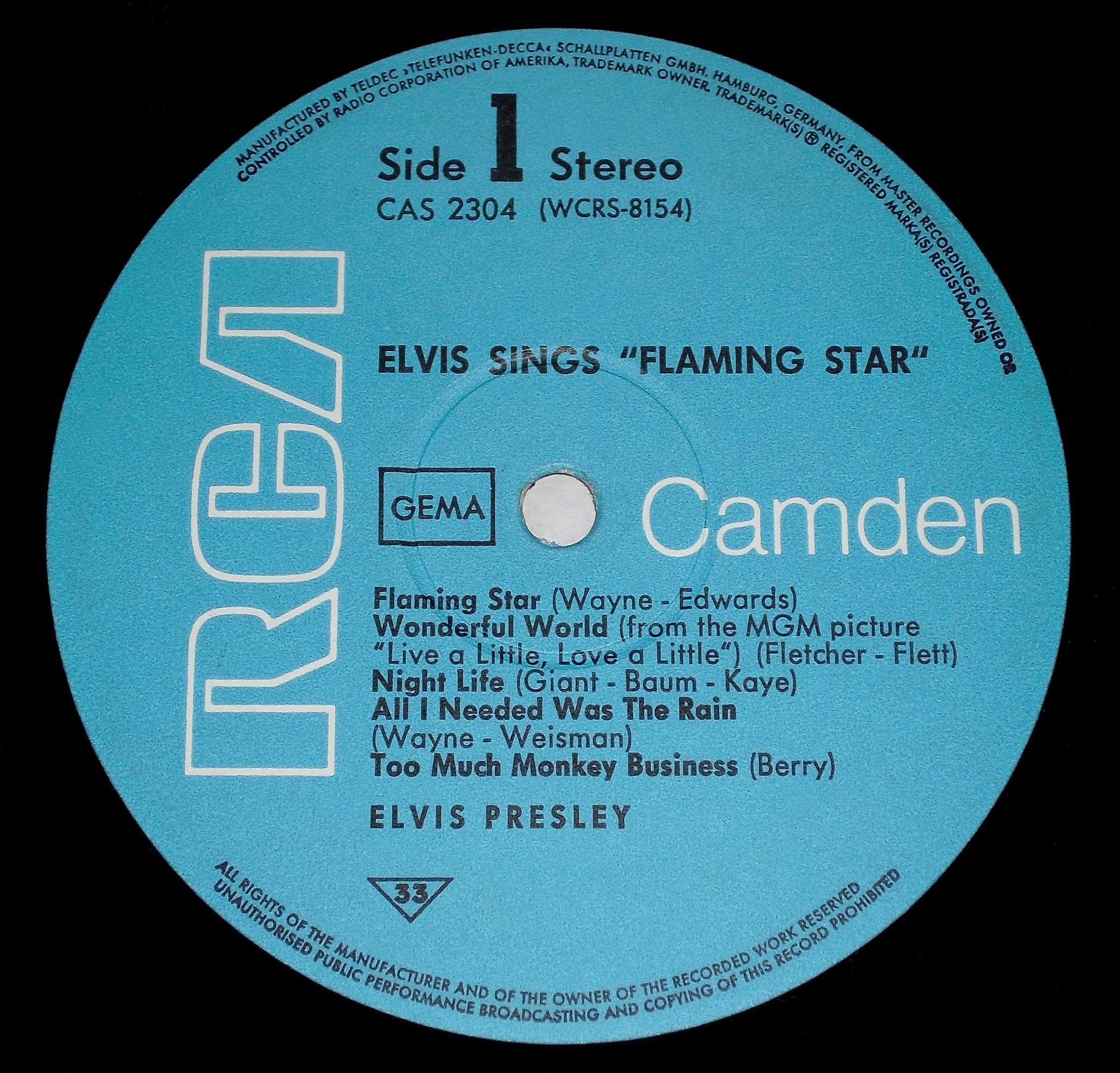 ELVIS SINGS FLAMING STAR 016kxpql