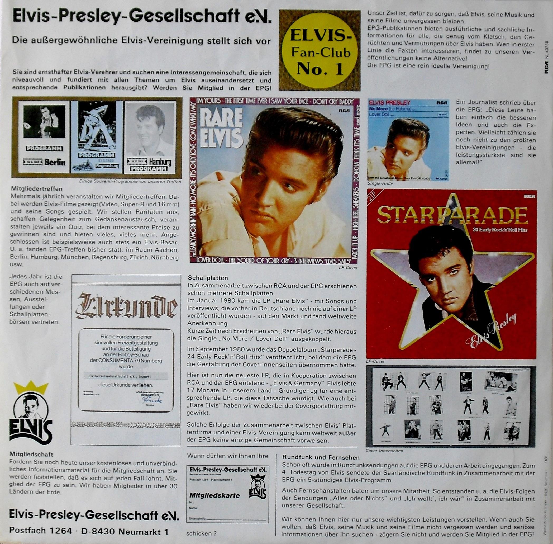 TAKEOFF - ELVIS IN GERMANY 01vs75pob