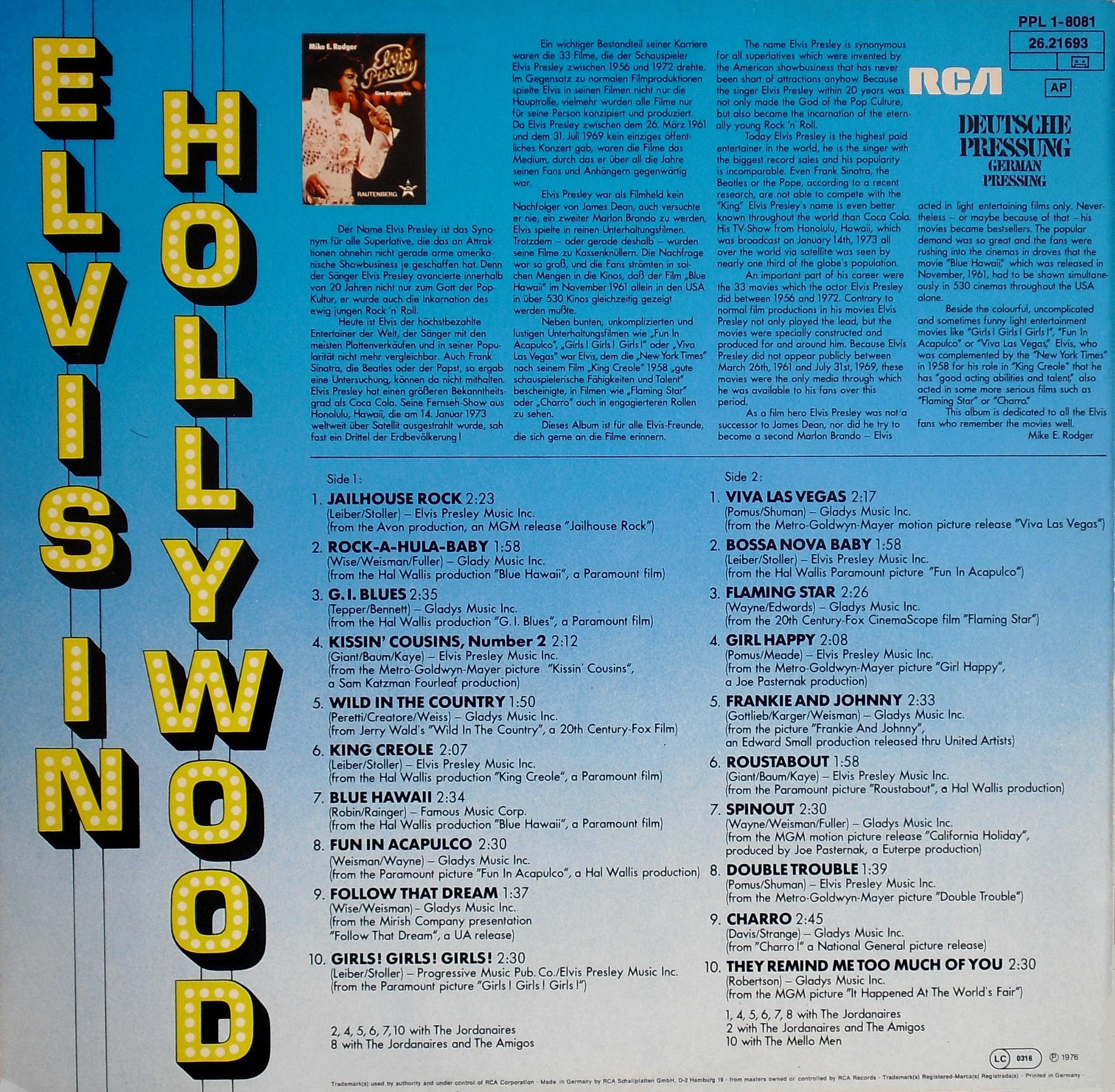 ELVIS IN HOLLYWOOD 02akxqr