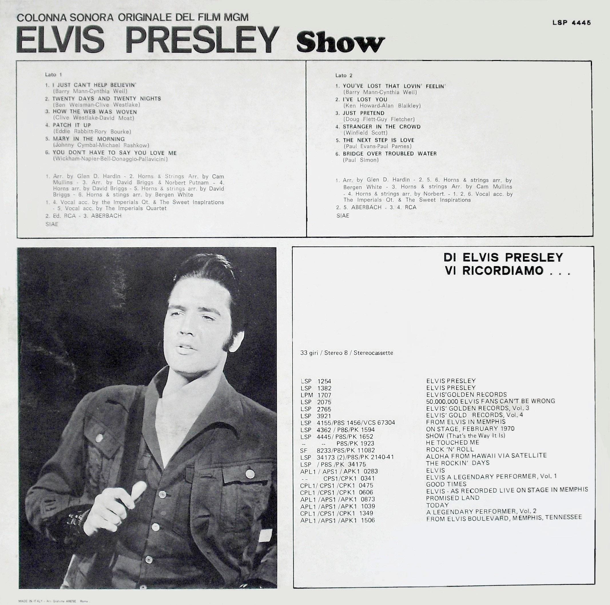 ELVIS PRESLEY SHOW (THAT`S THE WAY IT IS) 02eg7w6