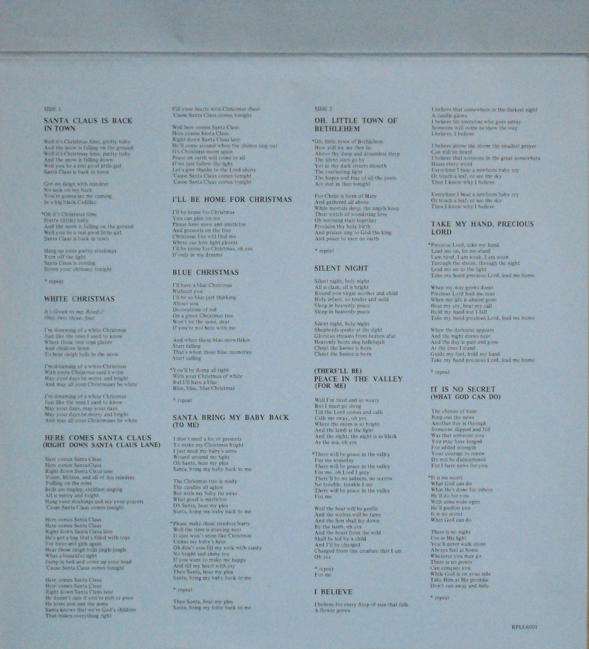 ELVIS' CHRISTMAS ALBUM 02ivkse