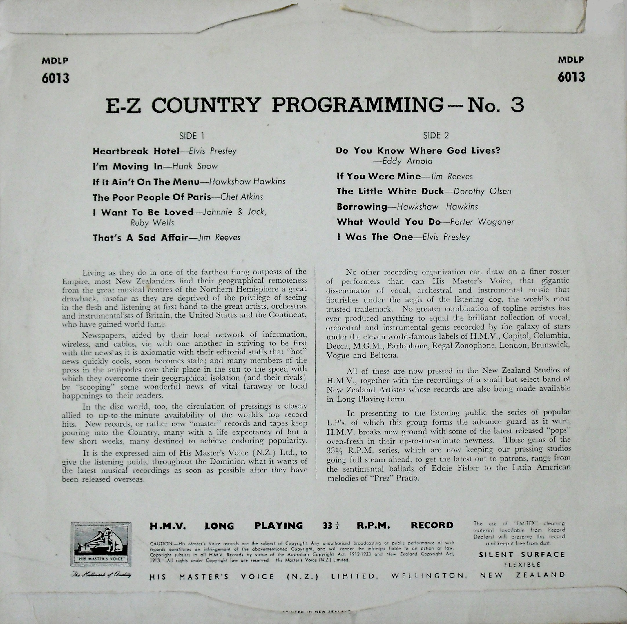 E-Z COUNTRY PROGRAMMING  02lxonb