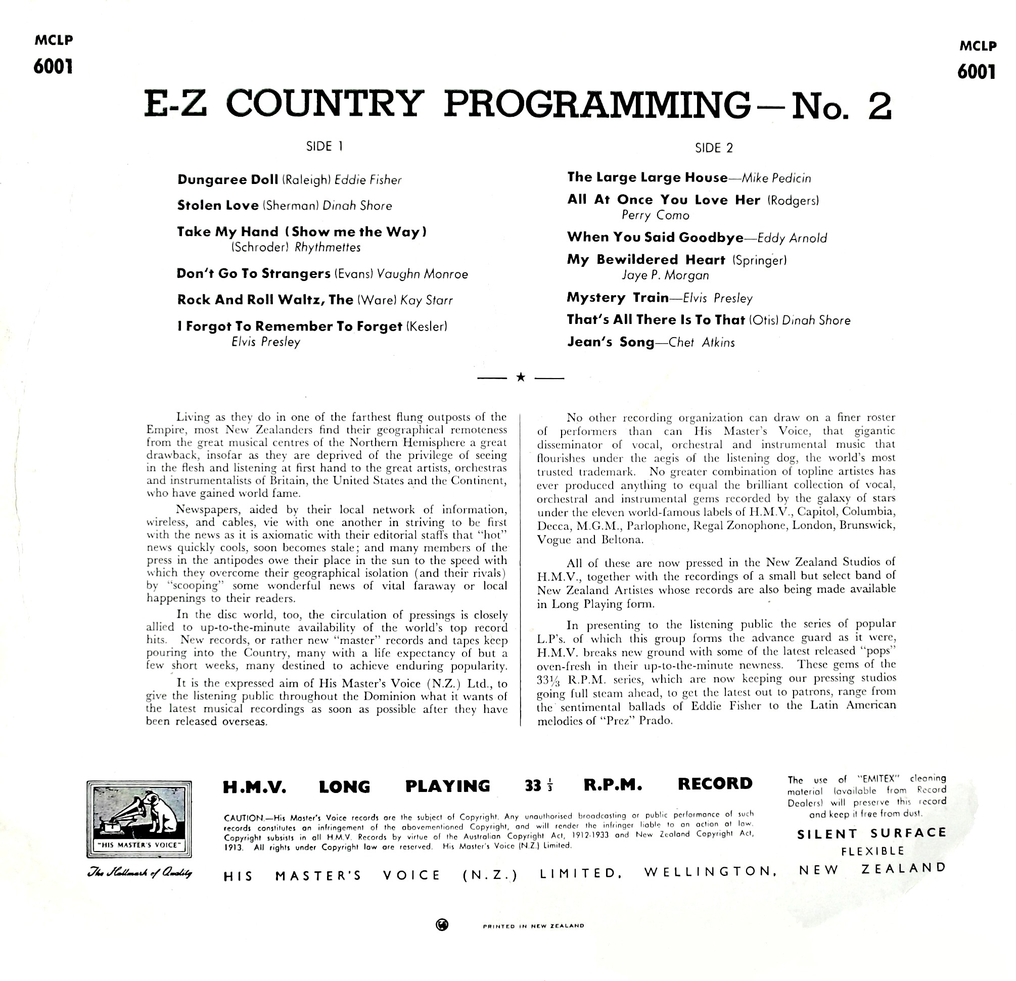 E-Z COUNTRY PROGRAMMING  02qnlke