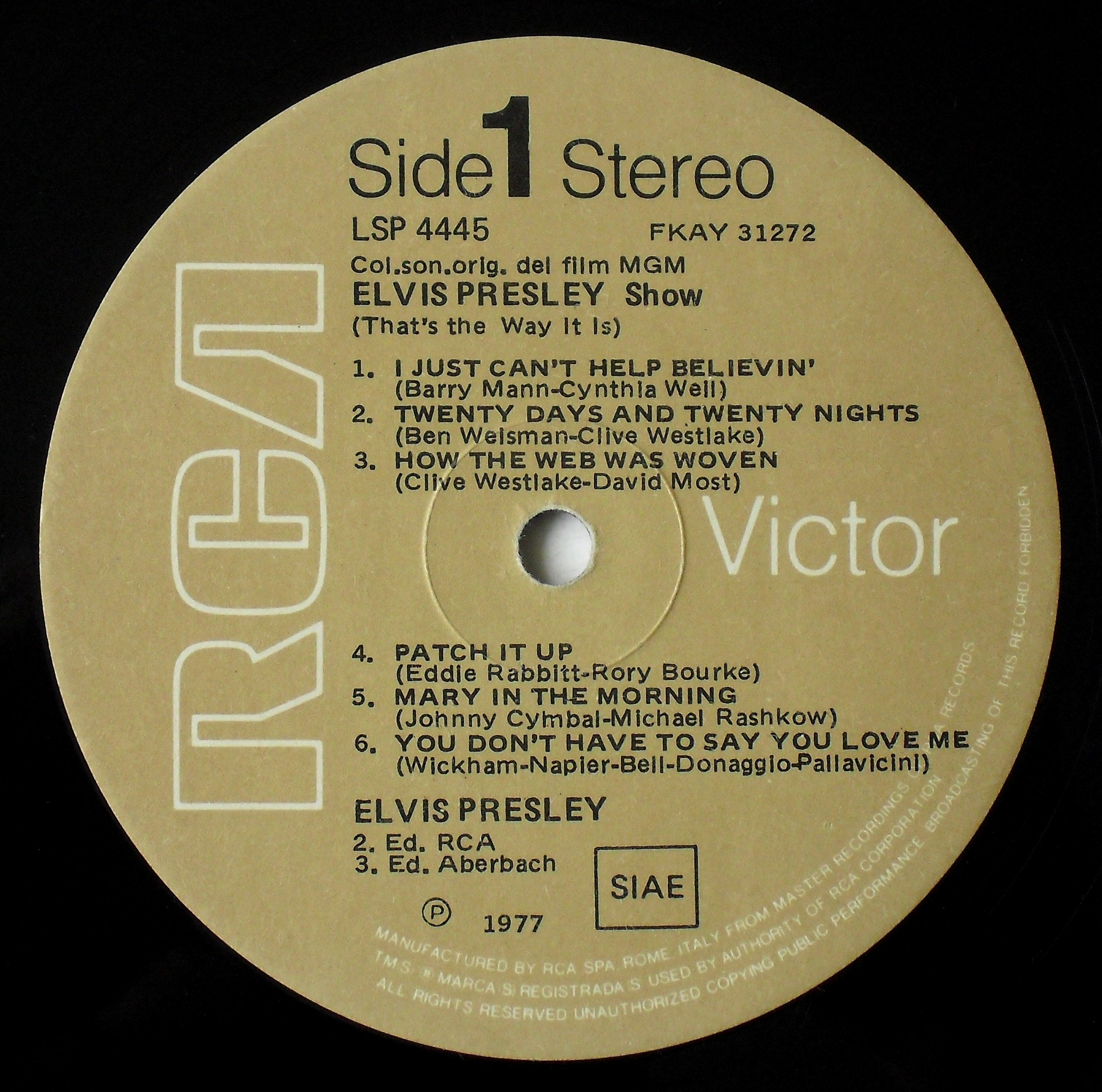 ELVIS PRESLEY SHOW (THAT`S THE WAY IT IS) 03ds7s6