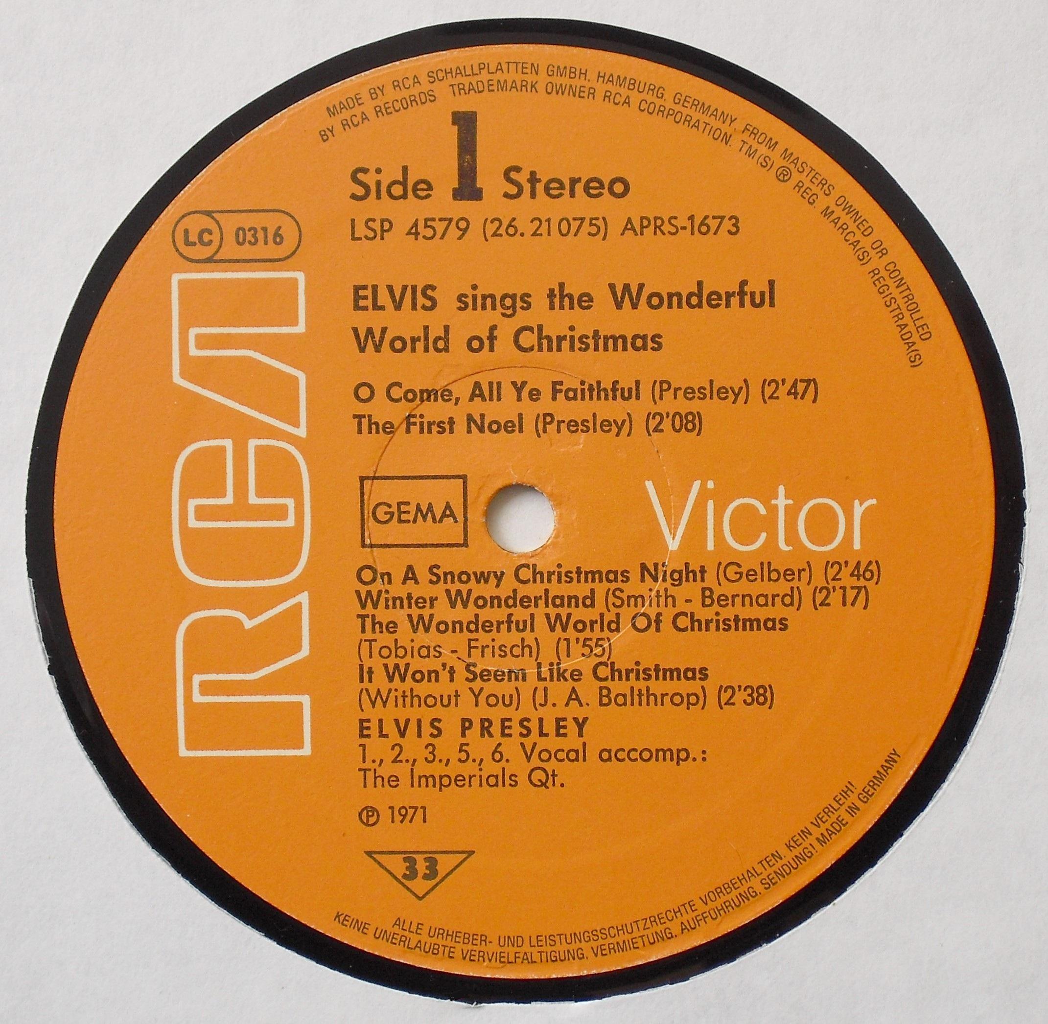 ELVIS SINGS THE WONDERFUL WORLD OF CHRISTMAS 03s1ydj6l