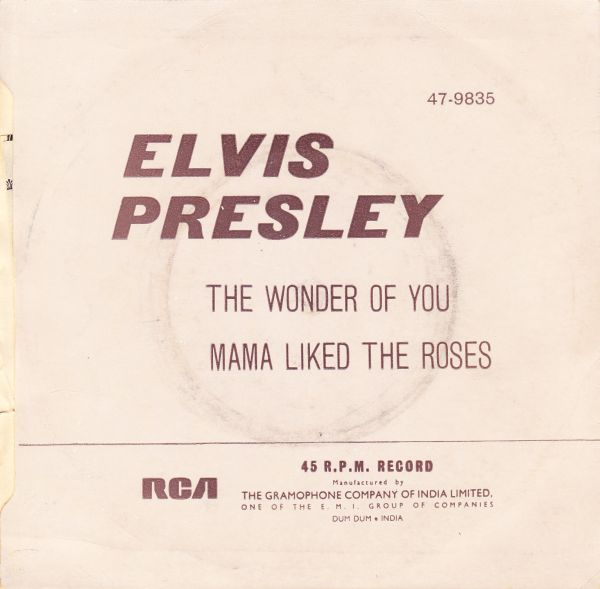 The Wonder Of You / Mama Liked The Roses 47-9835-3toekl