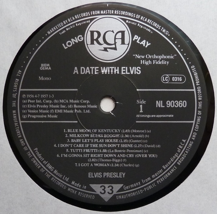 A DATE WITH ELVIS Adate89side1lak59