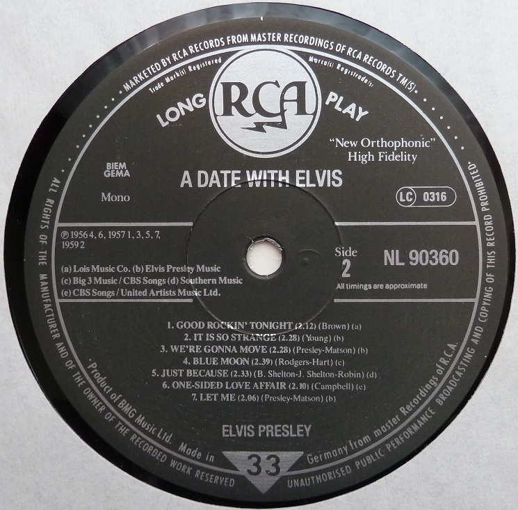 A DATE WITH ELVIS Adate89side2vckvk