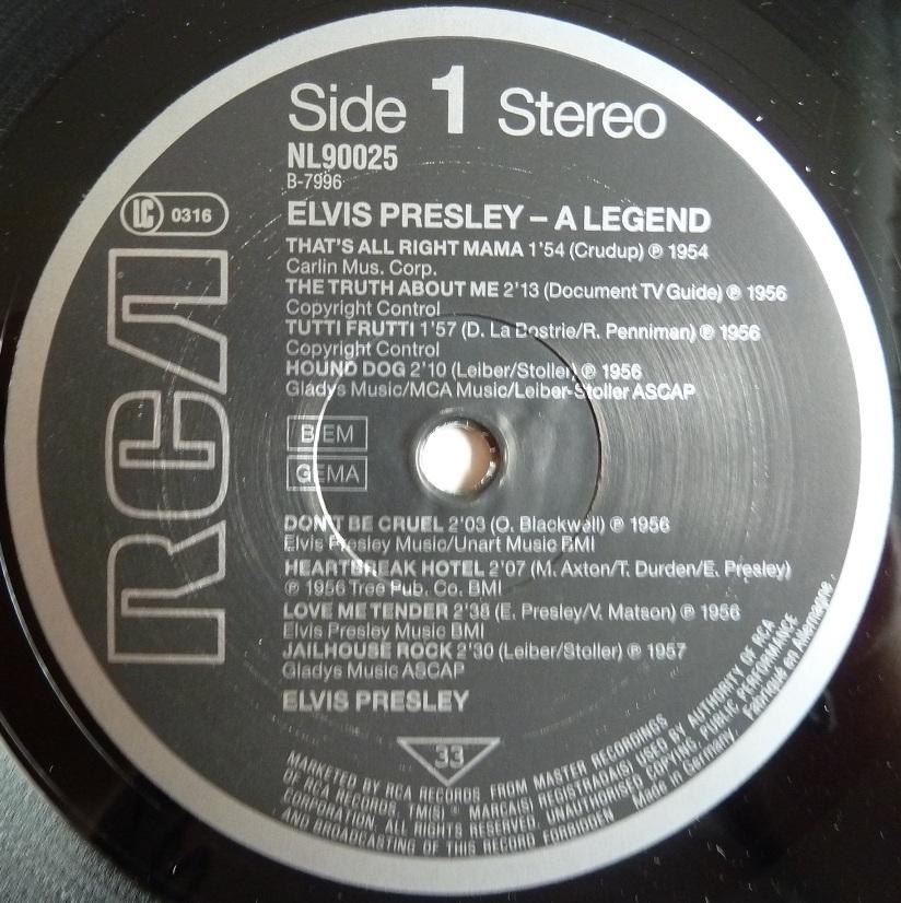 ELVIS PRESLEY - A LEGEND Alegend87side13iulg