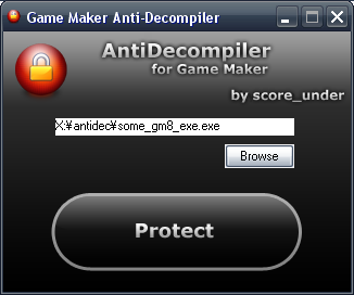 Game Maker Anti-Decompiler Antidec2c1ar6
