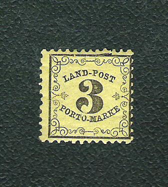 Die Landpost-Portomarken aus Baden Baden1hlbuu