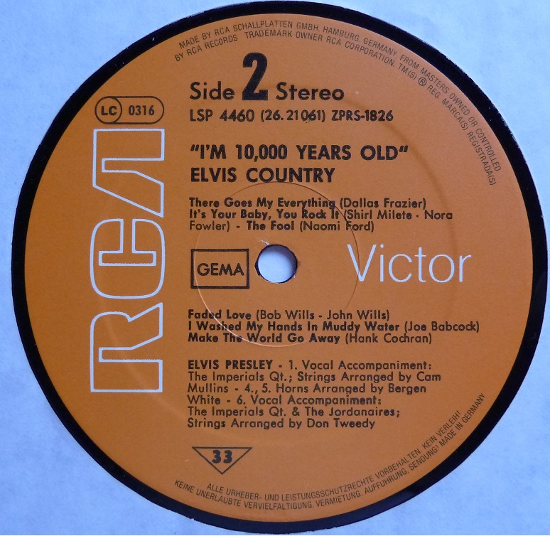 I'M 10,000 YEARS OLD - ELVIS COUNTRY Country77side2utk1o
