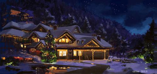 Weihnachtsinsel - Dorfplatz Dorfplatzhbe4x