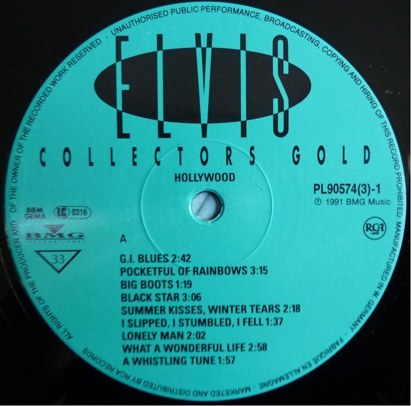 COLLECTORS GOLD Ecg91lp1labelt9uty