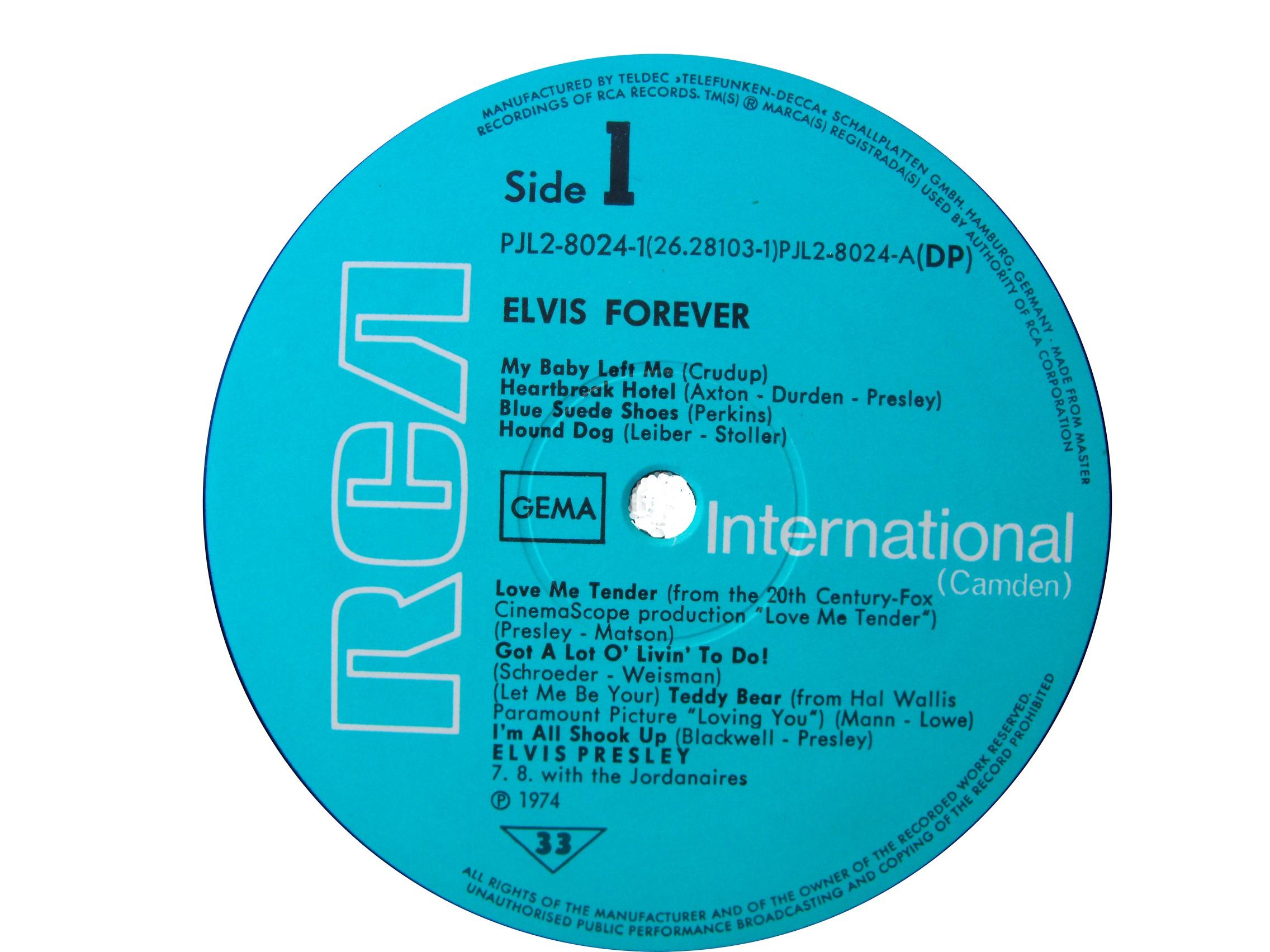 ELVIS FOREVER - 32 HITS Efside11974widux