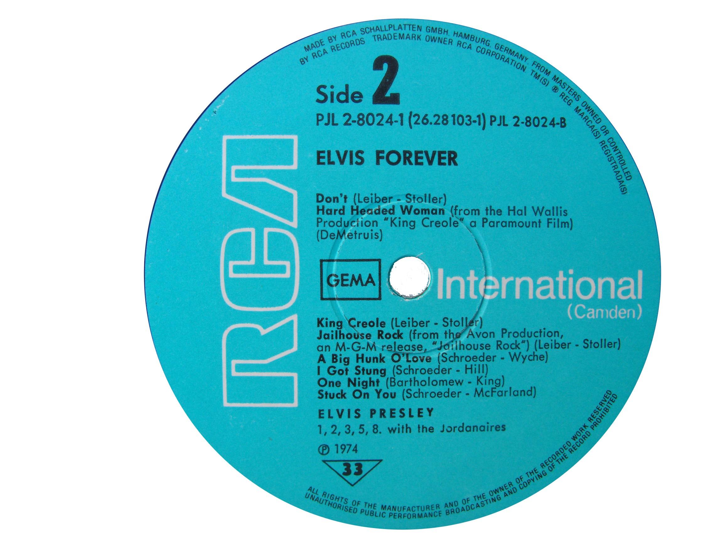 ELVIS FOREVER - 32 HITS Efside21975a9c2s