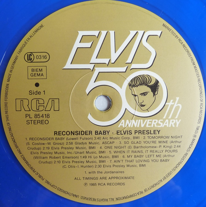 RCA LP-Label-Spiegel der Bundesrepublik Deutschland Elvis-3au8so1