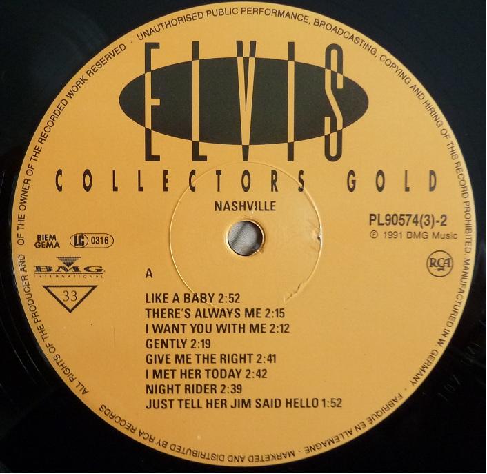 RCA LP-Label-Spiegel der Bundesrepublik Deutschland Elvis-4gelbmds89