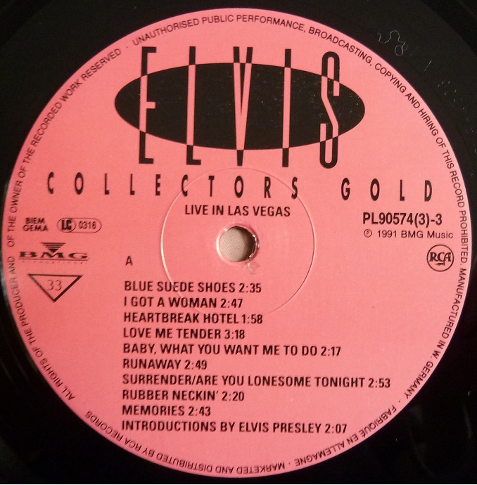 RCA LP-Label-Spiegel der Bundesrepublik Deutschland Elvis-4rot55sr7