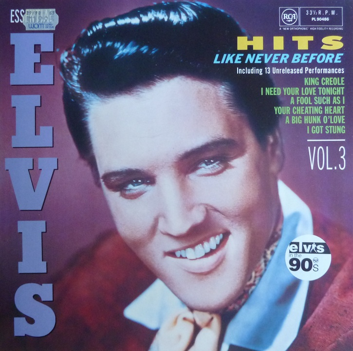 ESSENTIAL ELVIS VOL. 3 - HITS LIKE NEVER BEFORE Essentialvol3frontguf97