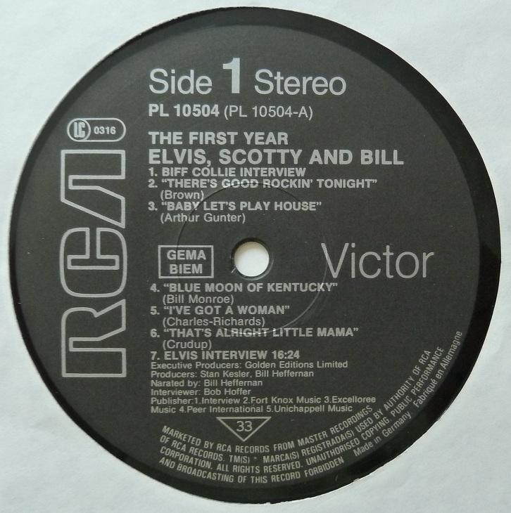 RCA LP-Label-Spiegel der Bundesrepublik Deutschland Firstyearside1drc74