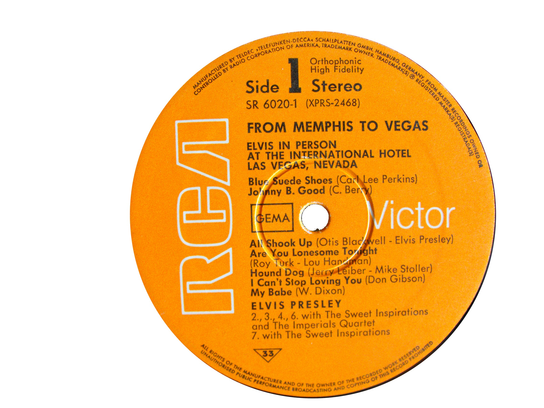 FROM MEMPHIS TO VEGAS / FROM VEGAS TO MEMPHIS Fmtv69label1zmu7o