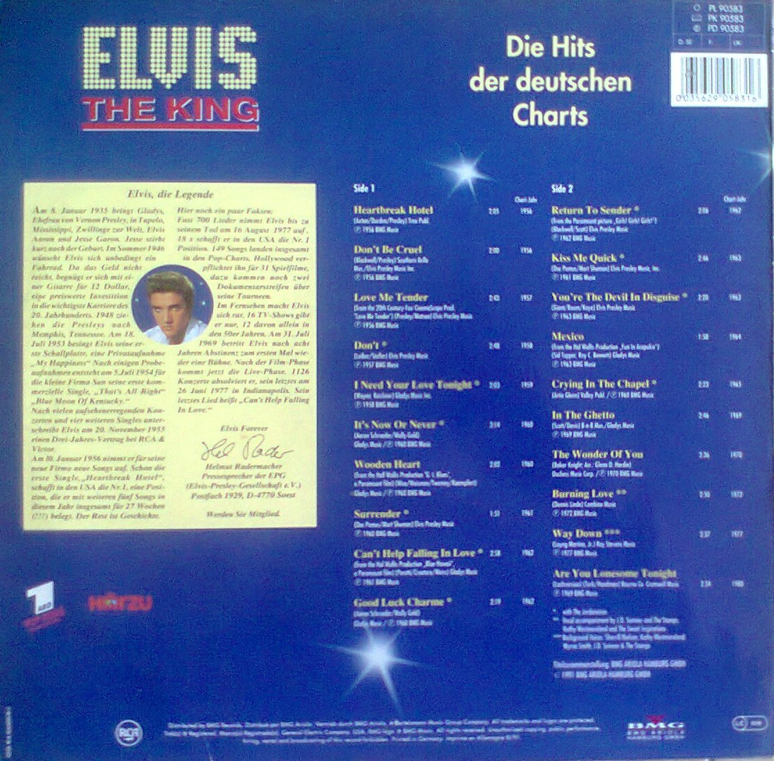 ELVIS - THE KING - Die Hits der deutschen Charts Foto0293ddzd7