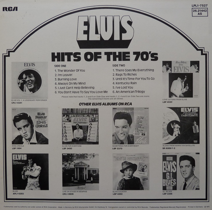 HITS OF THE 70´S Hitsofthe70s74rckseitljakc