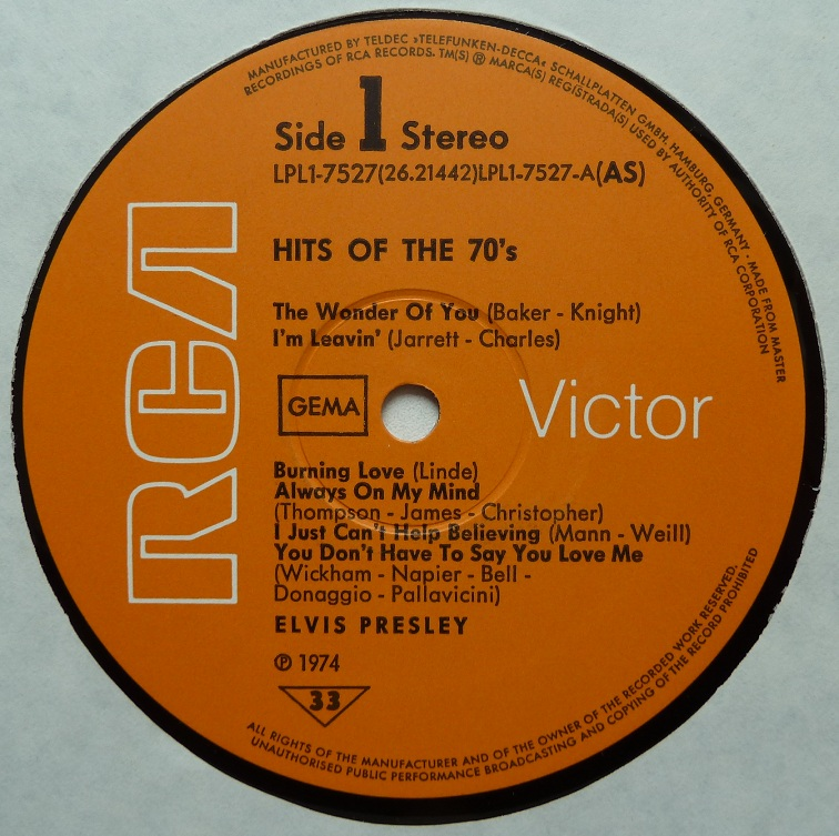 HITS OF THE 70´S Hitsofthe70s74side10qxii