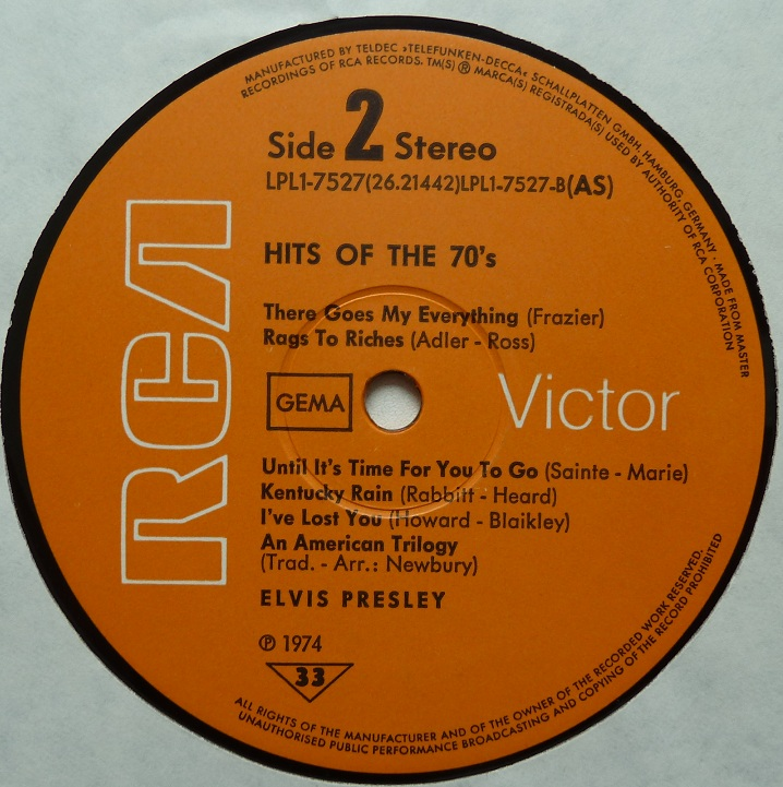 HITS OF THE 70´S Hitsofthe70s74side2cil5r