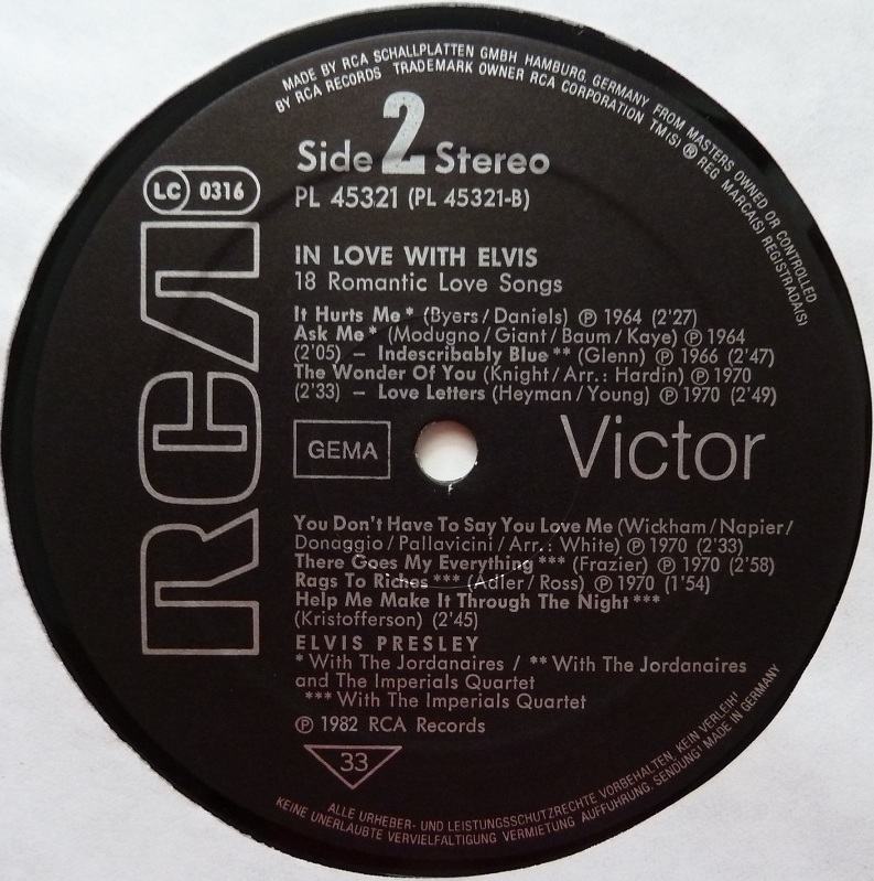 IN LOVE WITH ELVIS - 18 ROMANTIC LOVE SONGS Inlove18side2ymg44